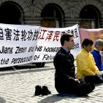 Falun Gong manifestation p Mynttorget