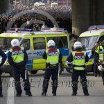 Poliser vid avfarten Gullmarsplan