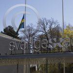 Sveriges Radio flaggar på halv stång
