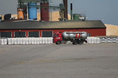 Neova pelletsfabrik i Gävle