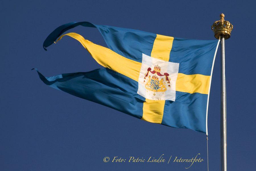 Kungliga flaggan på Stockholms Slott