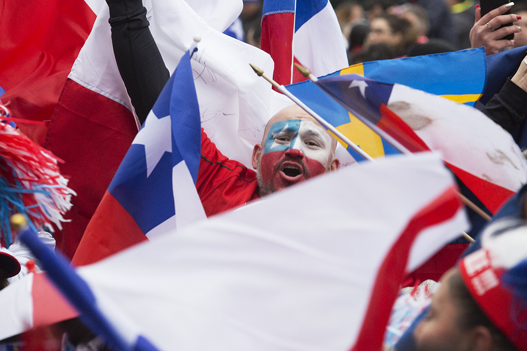 Chilens supporter sjunger