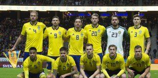 Svenska landslaget mot Chile