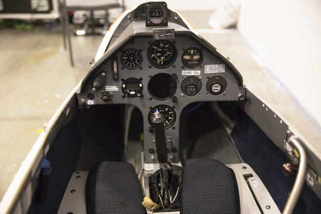 Cockpit i segelflygplan