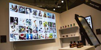 """Tre LG 55"""" skärmar för digitalt budskap"""
