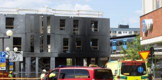 Brand på byggarbetsplats