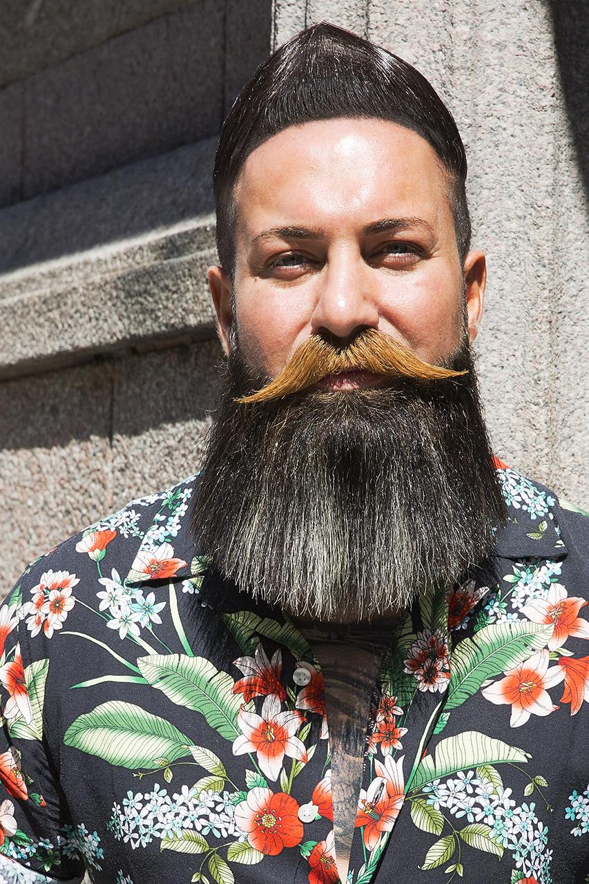 Stylad skägg och mustasch