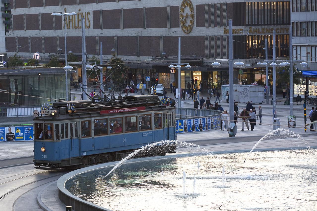 cf1ca6b521f Museispårvagnar Klarabergsgatan till Djurgården – Internetfoto