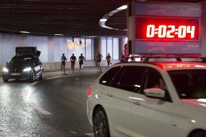 Stockholm halvmarathon Klaratunneln 2.04