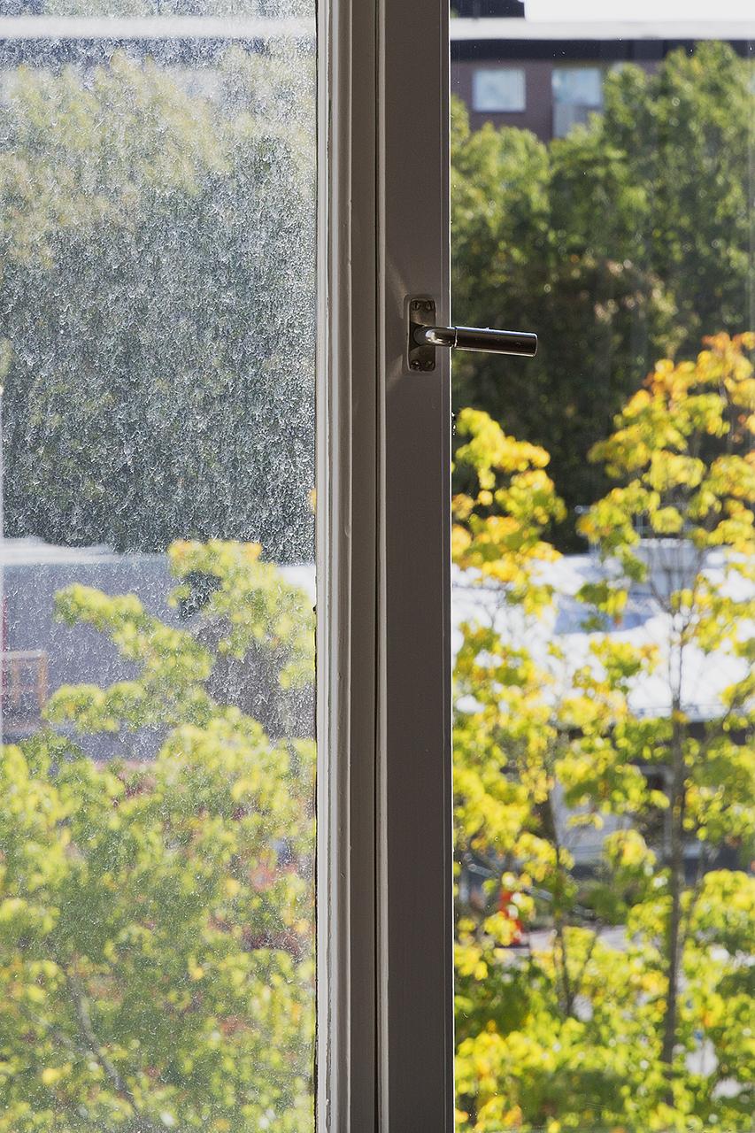 Smutsigt och rent fönster