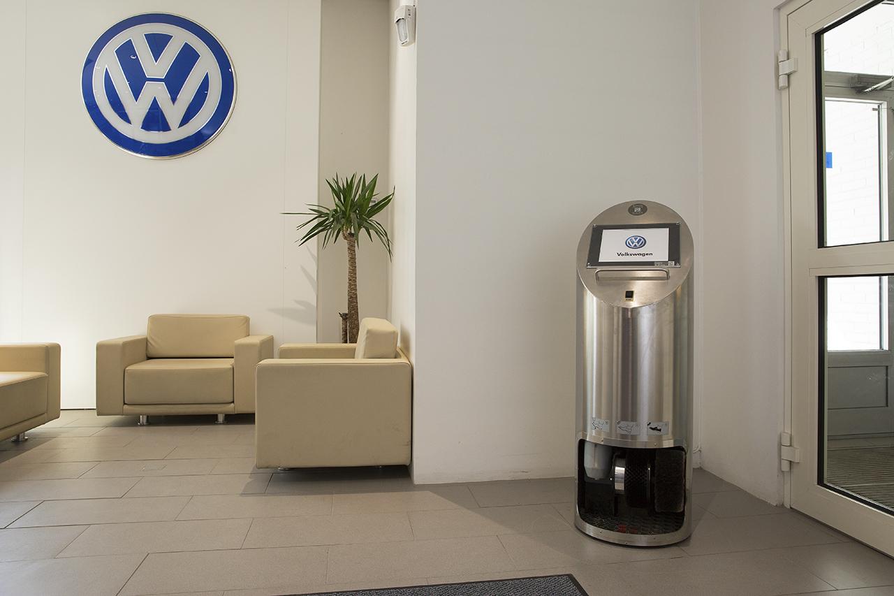 Ellips skoputsmaskin hos VW