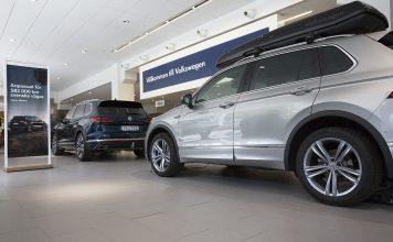 Rena golv i både Volkswagen bilhall och VW-bilar