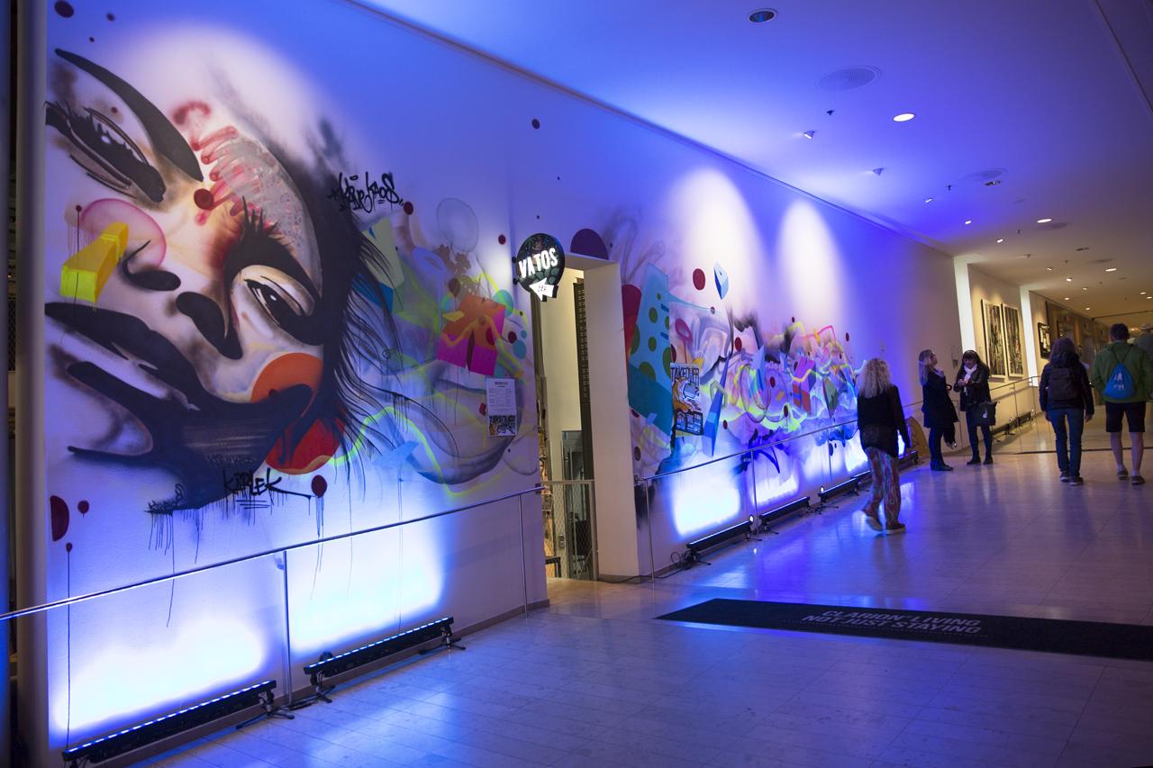 Graffiti och ljussättning