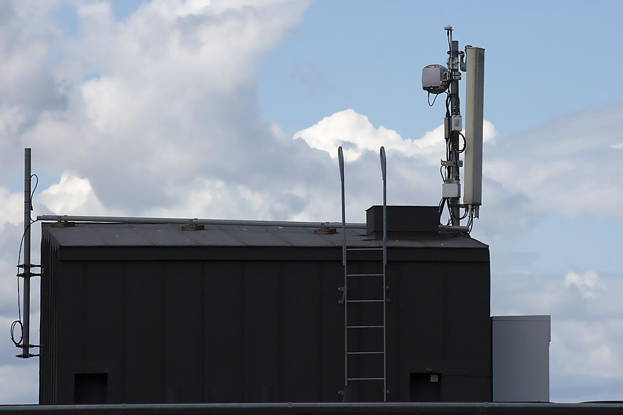 Antennanläggning på flerfamiljshus.