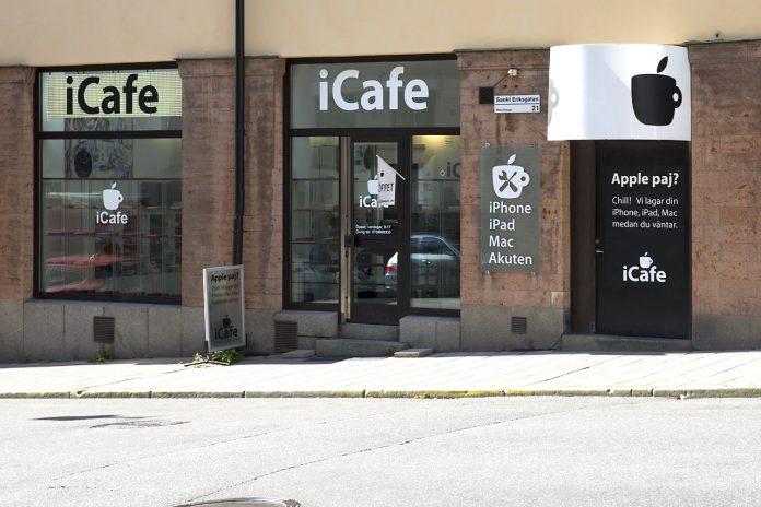 Apple Paj och kaffe.