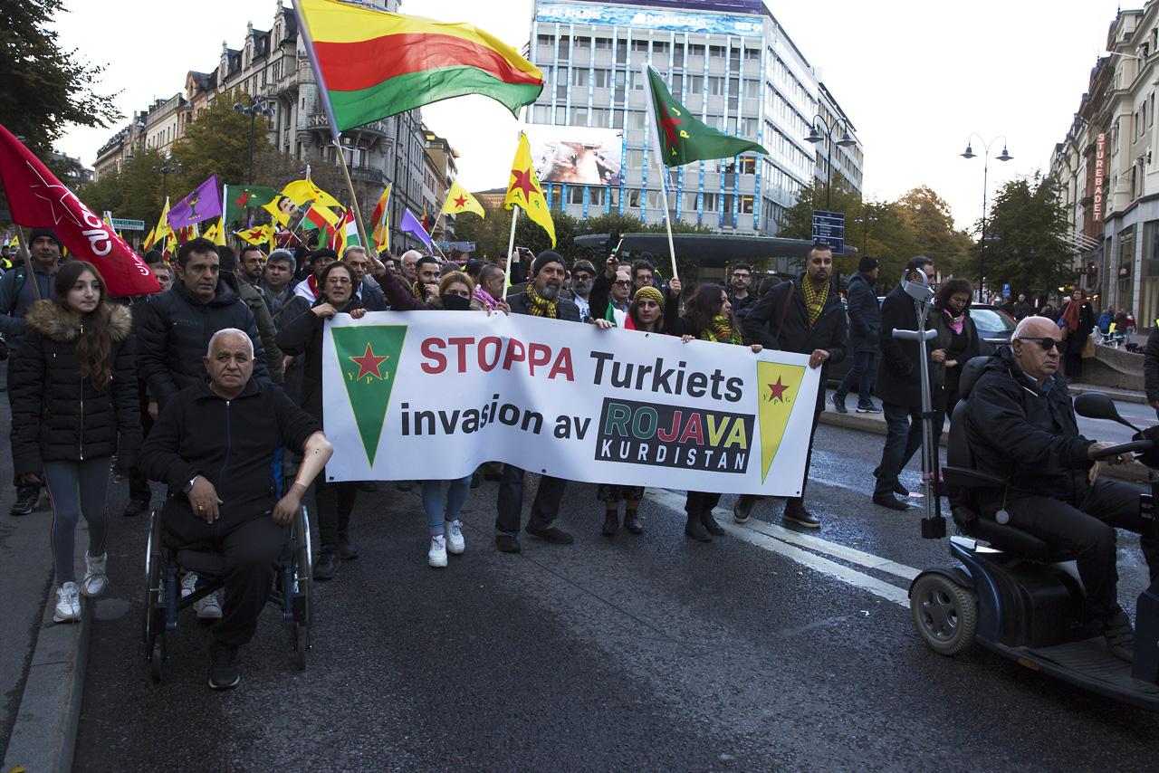 Kurdisk Demonstration Birger Jarlsgatan