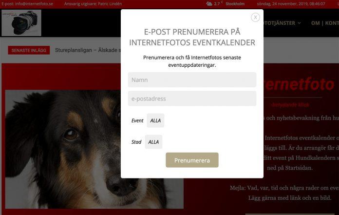 Prenumerera på Hundkalendern