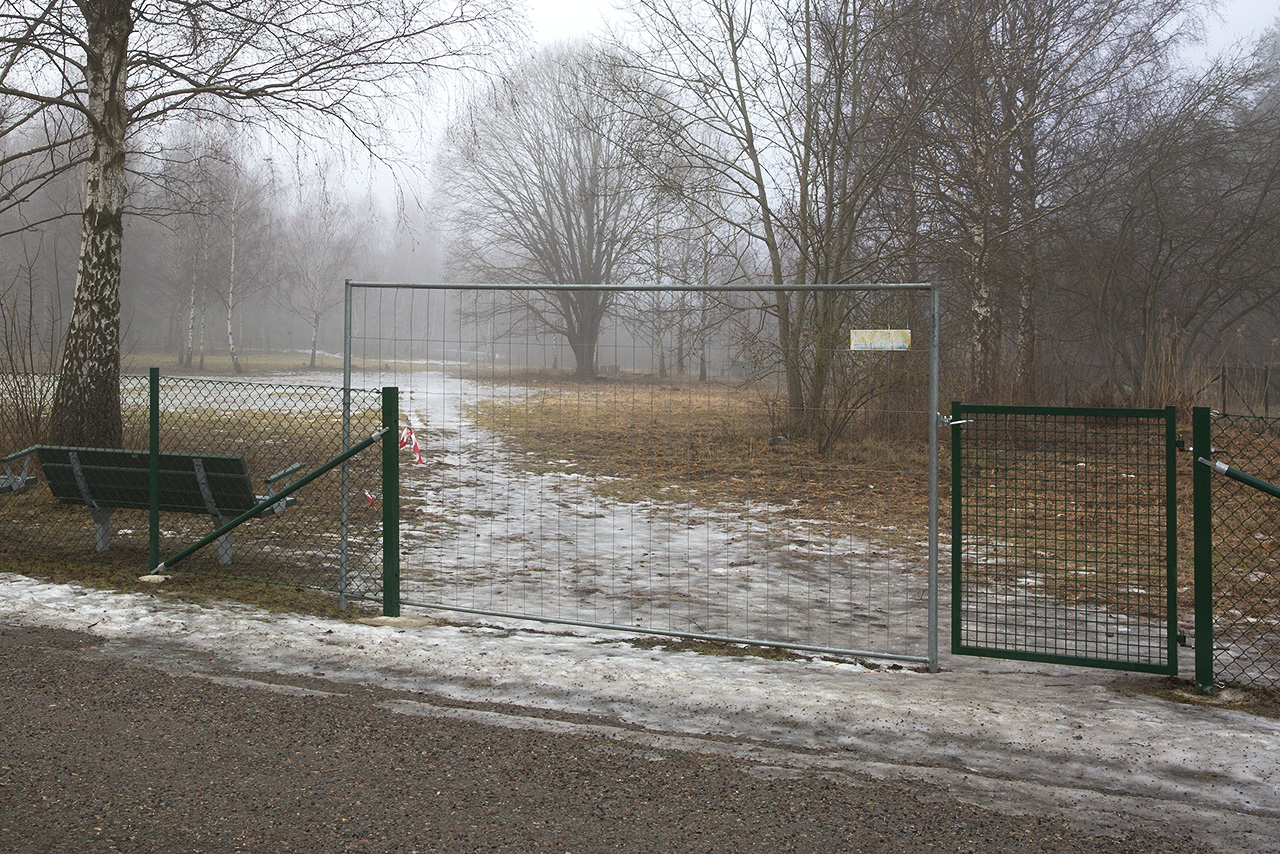 Övre grind Sätra Hundpark.